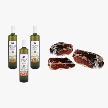 Pack 3 Flaschen Natives Olivenöl Extra + Green Label Schulter